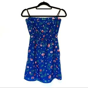 🌸 Mimi Chica Blue Floral Strapless dress